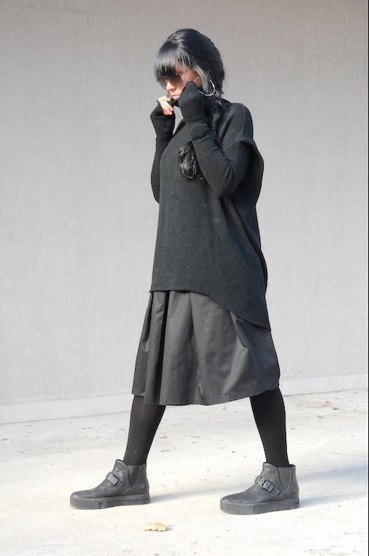 Ефектен плетен пуловер Kotyto