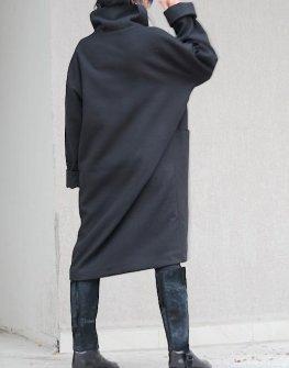Палто с асиметрично закопчаване Kotyto