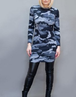 Милитъри рокля с дълъг ръкав Aggata