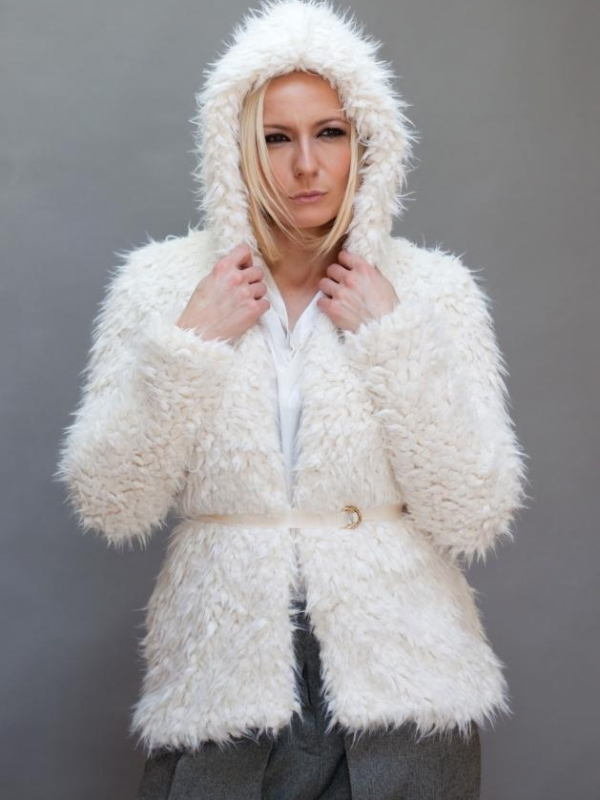 Стилно палто с качулка Aggata