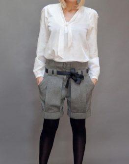 Къси панталонки в сив цвят Aggata