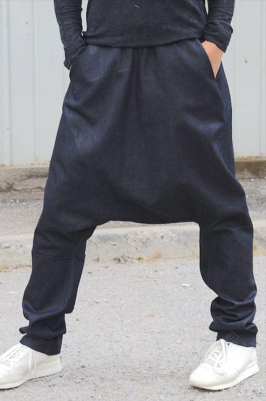 Дизайнерски панталон от тъмен деним Kotyto