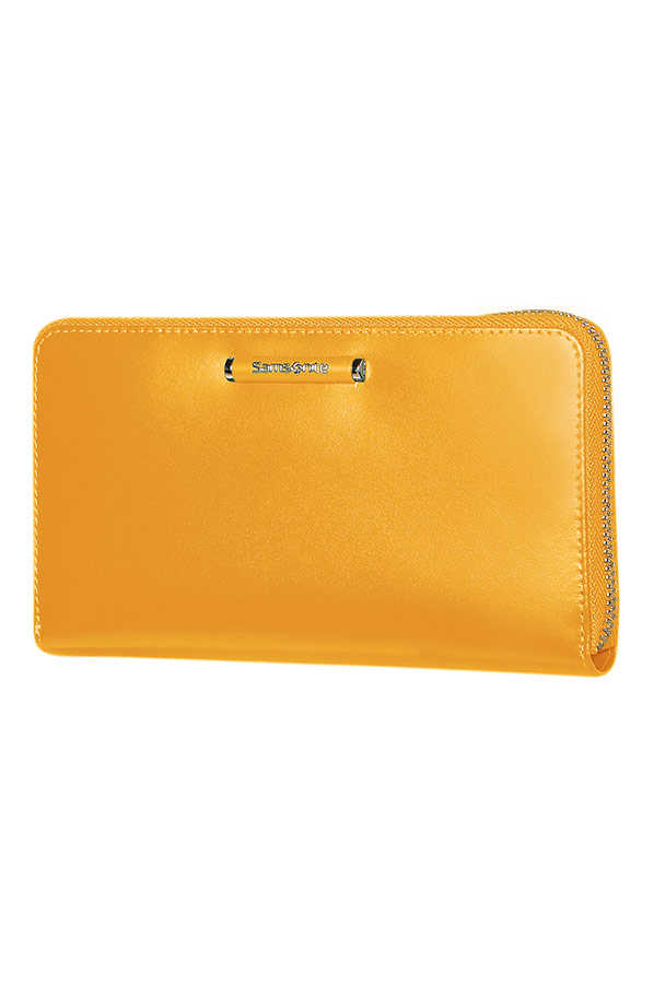 Жълт дамски портфейл Samsonite
