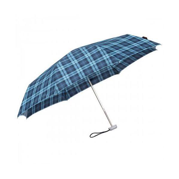 Чадър Samsonite в синьо каре