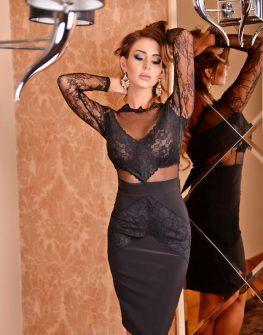 Черна бутикова рокля DPmoda
