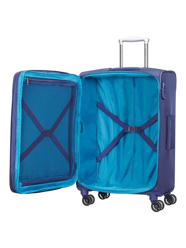 Куфар на 4 колела в синьо ASPHERE