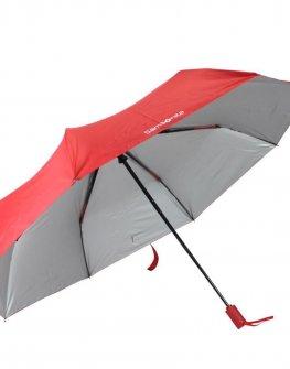 Тройно сгъваем чадър Samsonite в червено