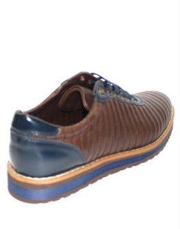 Кожени мъжки обувки Sara Pen в кафяво