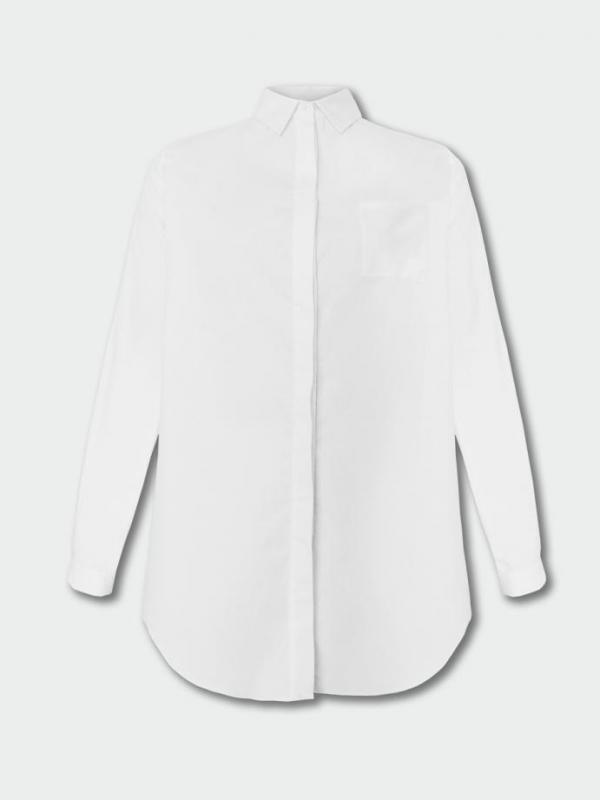 Стилна бутикова риза в бяло Pulse
