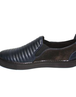 Мъжки обувки Sara Pen без връзки в синьо и кафяво