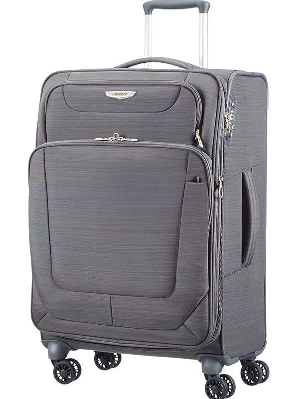 Сив куфар на 4 колела SPARK