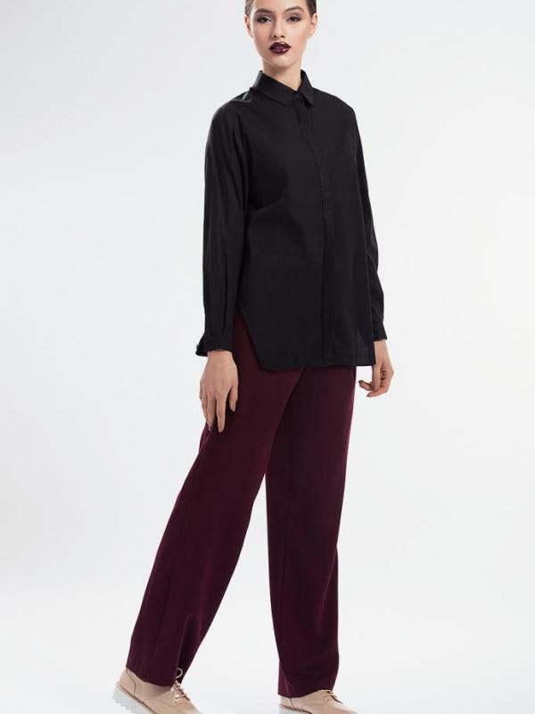 Елегантна дамска риза в черно Pulse