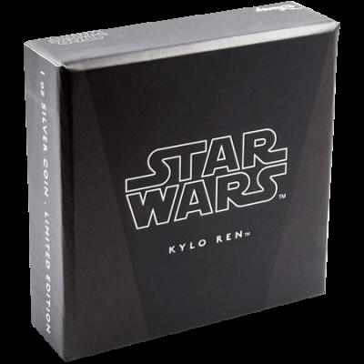 Сребърна монета Star Wars- Капитан Фазма