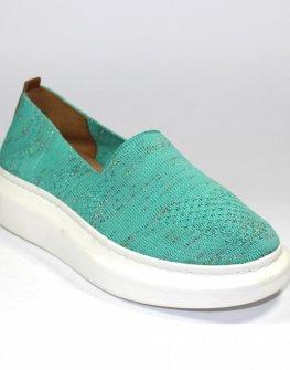 Дамски спортни обувки в цвят тюркоаз Sara Pen