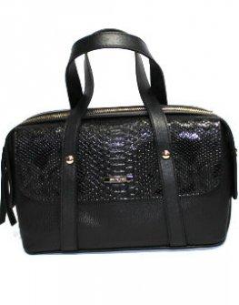 Стилна чанта в десен змия Sara Pen