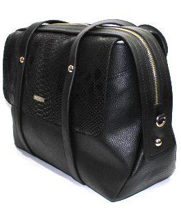 Ефектна дамска чанта в змийски десен Sara Pen