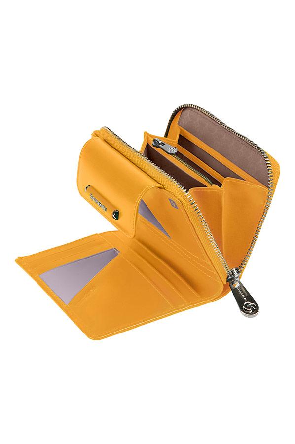 Красив дамски портфейл Samsonite в жълто