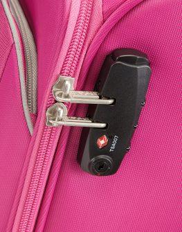 Розов куфар на 2 колела American tourister