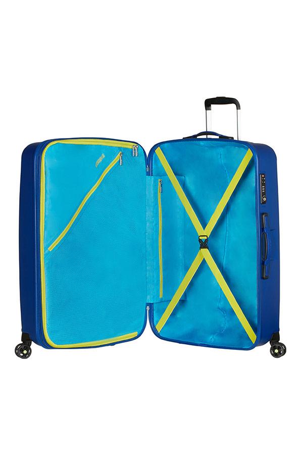 Куфар на 4 колела в синьо American tourister