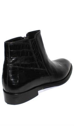 Черни мъжки боти от естествена кожа SARA PEN