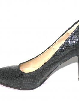 Дамски обувки на висок ток в десен змия Sara Pen