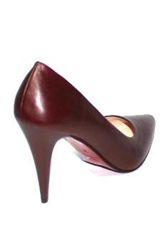 Дамски обувки на висок ток в тъмночервено Sara Pen