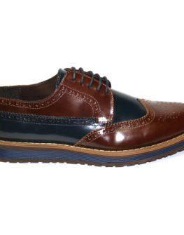 Мъжки обувки Sara Pen в кафяво и синьо