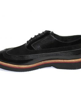 Мъжки обувки Sara Pen от естествена кожа и велур