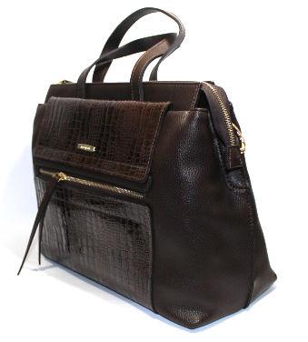 Ефектна дамска чанта в кафяво Sara Pen