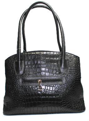 Стилна дамска чанта в десен крокодил Sara Pen
