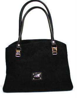 Дамска чанта Sara Pen от велур и кожа