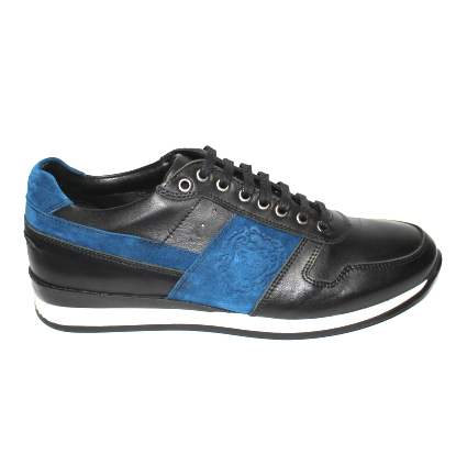 Мъжки спортни обувки от кожа и велур Sara Pen