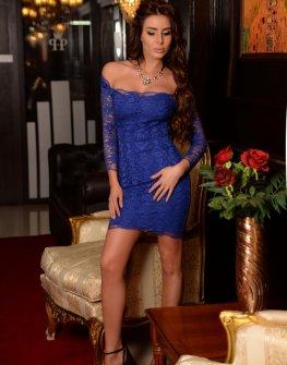 Елегантна рокля в синьо DPmoda