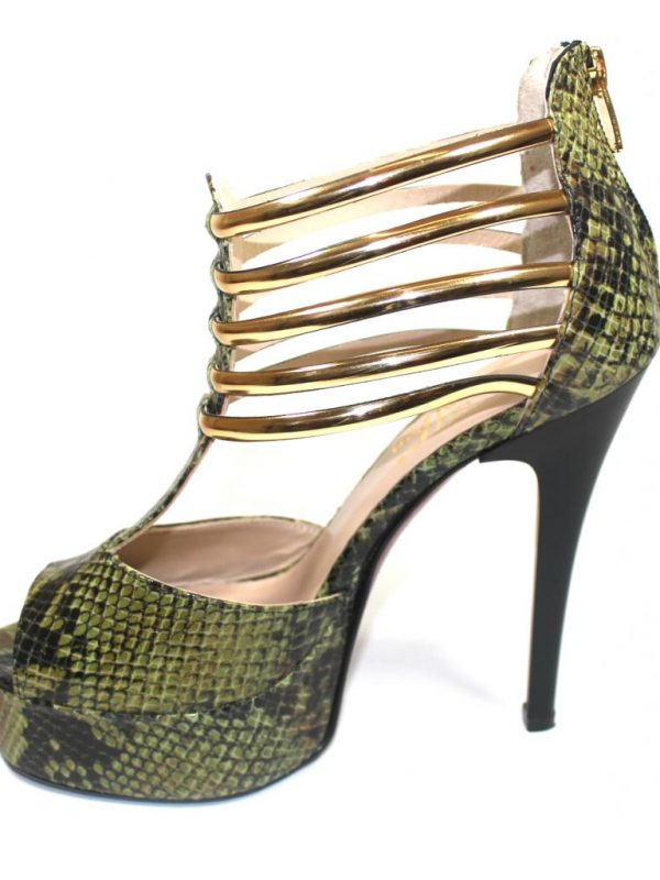 Ефектни дамски сандали Sara Pen на висок ток