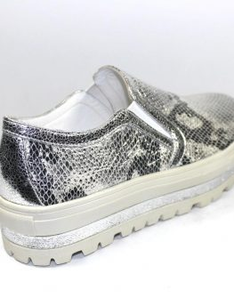 Сребристи дамски обувки Sara Pen