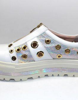 Бели дамски обувки Sara Pen