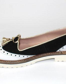 Дамски обувки Sara Pen в черно и бяло