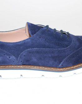 Дамски обувки Sara Pen от син велур