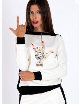 Дамска блуза с щампа Cocoon