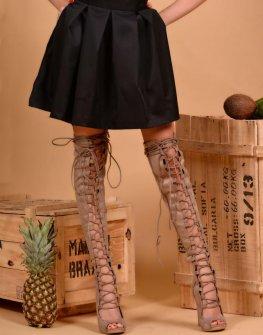 Черна пола с висока талия DPmoda