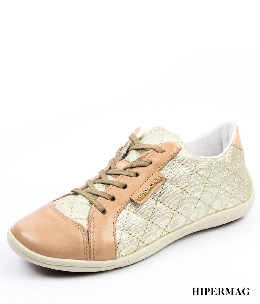 Дамски обувки в златисто и бежово Cravo&Canela