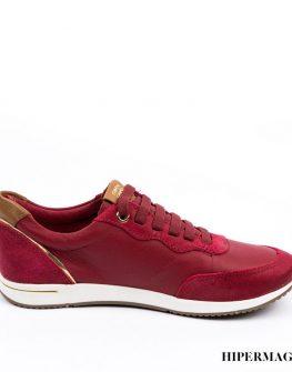 Червени обувки с връзки Cravo&Canela