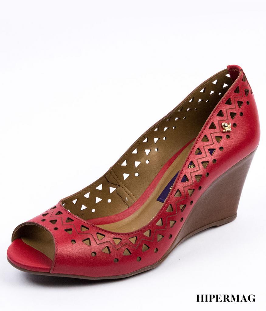 Дамски сандали в червено Cravo&Canela