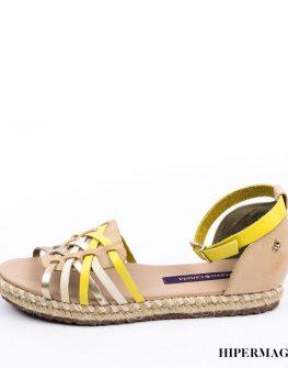 Ниски сандали в жълто и бежово Cravo&Canela