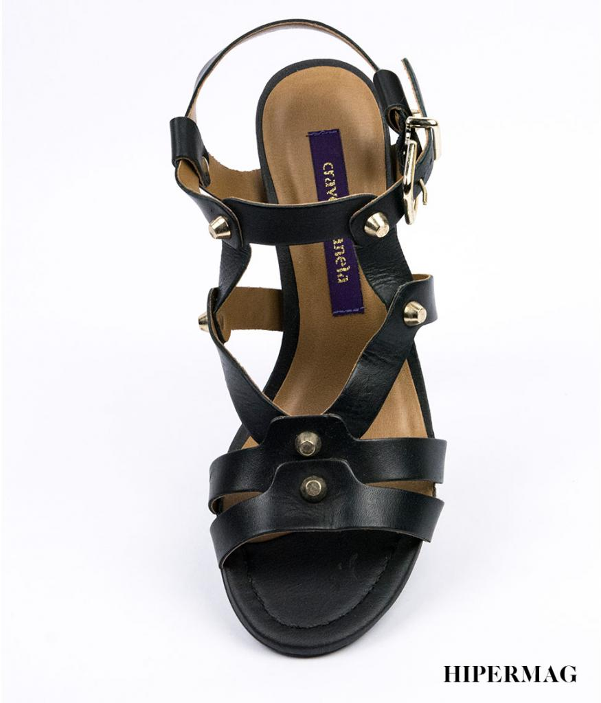 Дамски сандали на стабилен ток Cravo&Canela