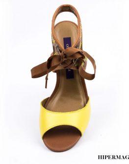 Дамски сандали с дървен ток Cravo&Canela