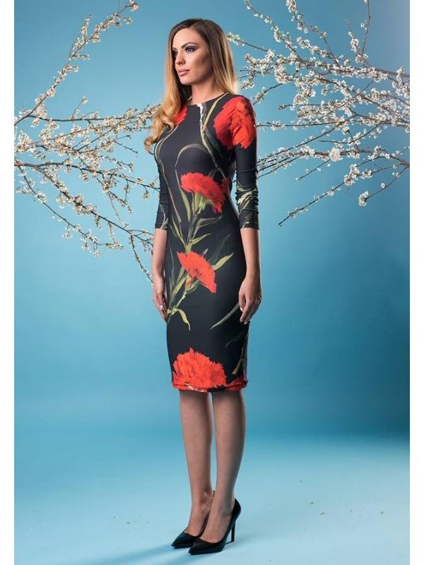 Стилна рокля с флорален принт Cocoon