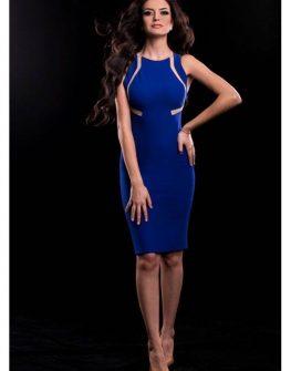 Елегантна рокля в синьо Cocoon