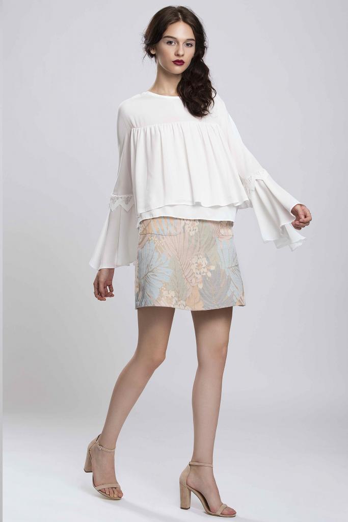 Бяла дамска блуза Pulse