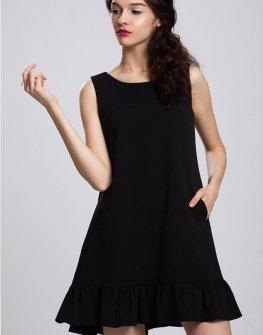 Черна бутикова рокля Pulse